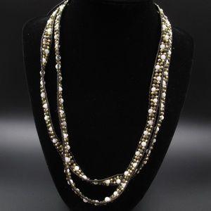 "Vintage 2 23"" Lulu Dharma Beaded Leather Necklaces"
